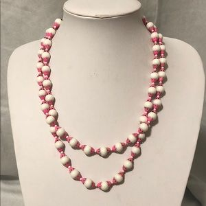 Vintage Pink & White Necklace